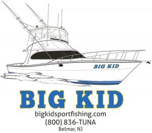 BIG KID Charter fishing in Belmar, NJ